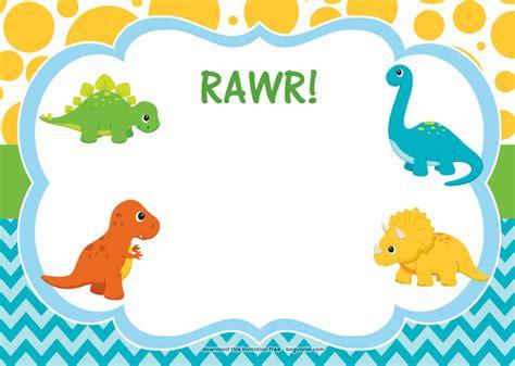 Free Birthday Templates by Free Dinosaur Birthday Invitations Bagvania Free