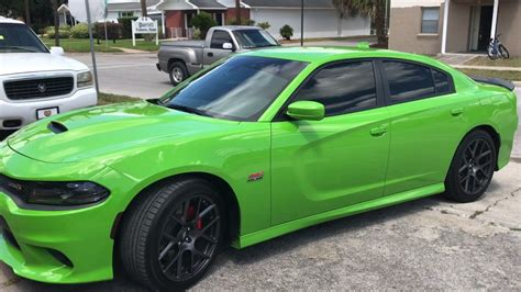 dodge charger scat pack  green youtube