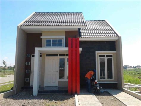 foto tampak depan rumah type  minimalis  lantai