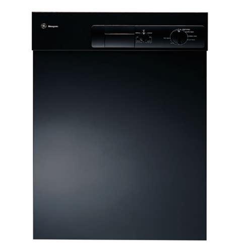 zbddbb ge monogram european design black dishwasher  stainless steel interior