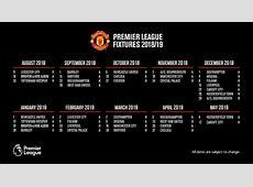 Premier League 1819 fixture guide Manchester United