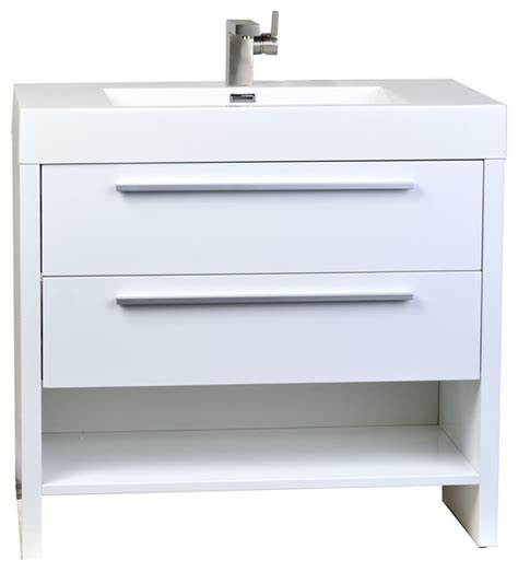Houzz Bathroom Vanities White by Conceptbaths Mula 35 5 Quot Modern Bathroom Vanity High Gloss