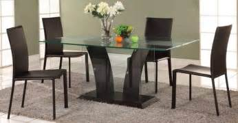 glass dining room table set extravagant rectangular wooden and clear glass top leather modern dining set contemporary