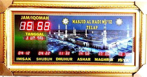 pengiriman jam digital sholat masjid al hadi muiz telap