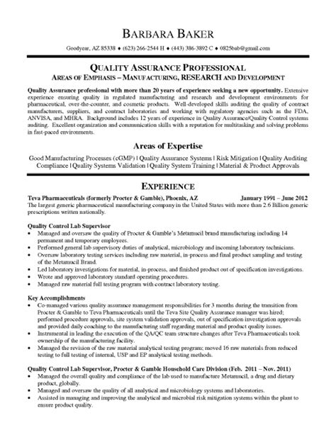 the awesome qa qc manager resume resume format web