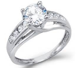 solitaire wedding rings beautiful bridal cubic zirconia engagement rings