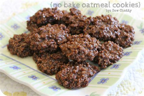 no bake sew chatty no bake oatmeal cookies