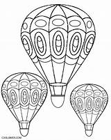 Coloring Air Balloon Adult Colouring Balloons Sheets Doodle sketch template