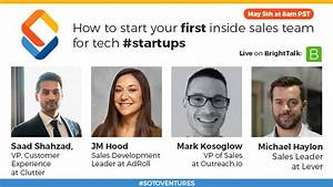 How to start your first inside sales team for tech #startups
