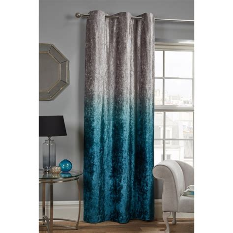 ombre crushed velvet panel    curtains bm