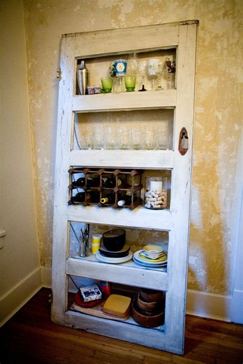 Vintage Door Repurposed Bookshelf Kitchy (011) $20000