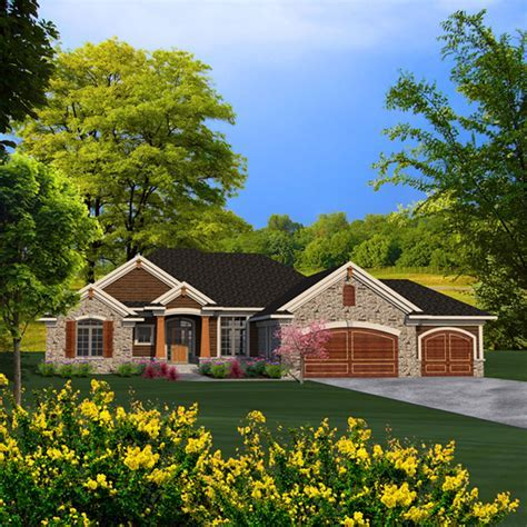 Briton Rustic Craftsman Home Plan 051D 0787   House Plans