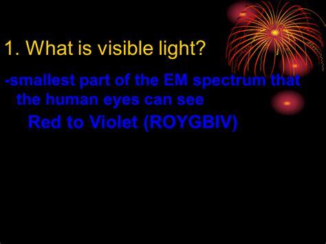 what color of visible light has the highest energy visible light and color presentation physics sliderbase