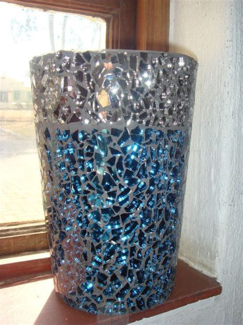 gem glass mosaic diy mosaic flower pot