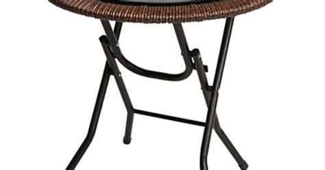 Big Lots Furniture Folding Tables by Wilson Fisher 174 18 Quot Glass Top Resin Wicker Folding
