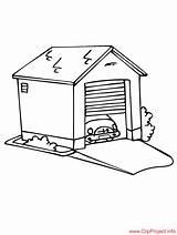 Garage Coloring Sheet Door Template Sheets Sketch Title Coloringpagesfree Buildings sketch template