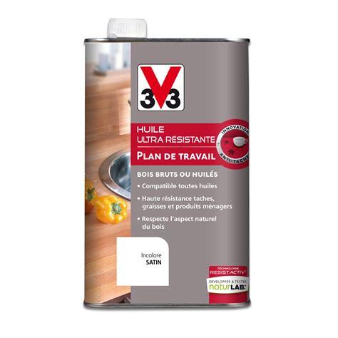 huile plan de travail v33 incolore 1 l leroy merlin