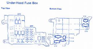Honda Accord Lx 1987 Under Hood Fuse Box  Block Circuit Breaker Diagram