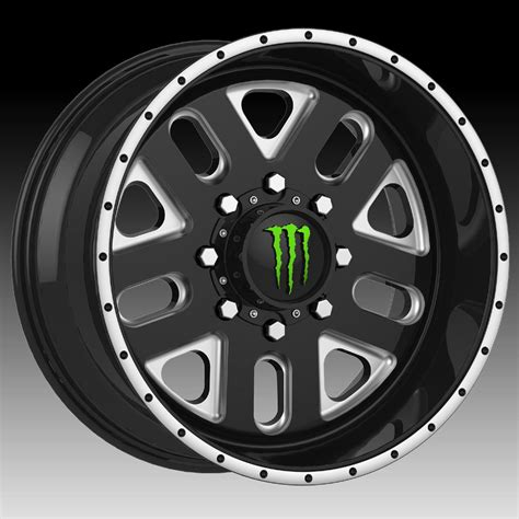 wheels monster truck videos tis monster energy edition 539bm black milled custom