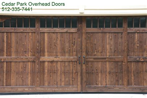 custom wood garage doors  austin tx