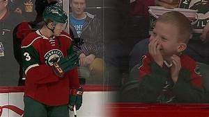 Priceless: Wild's Coyle Makes Young Fan's Day - YouTube