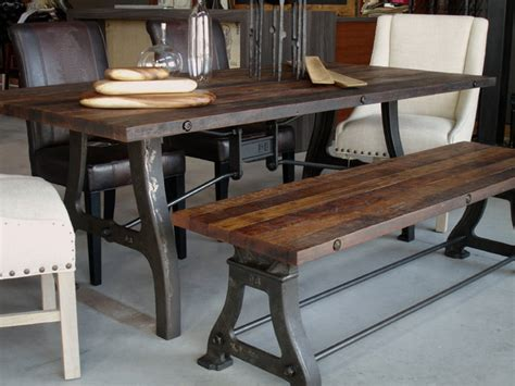 industrial reclaimed wood dining table industrial
