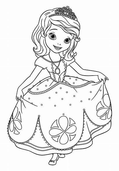 Sofia Coloring Printable Princesa Desenho Princess Prinzessin