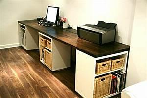 Schreibtisch Selber Bauen Arbeitsplatte : computertisch selber bauen sehr gro und modern im arbeitszimmer mit holzboden tisch ~ Eleganceandgraceweddings.com Haus und Dekorationen