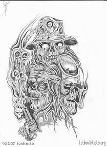 Evil Tattoo Flash Art | Black And Grey Evil Tattoo Flash ...