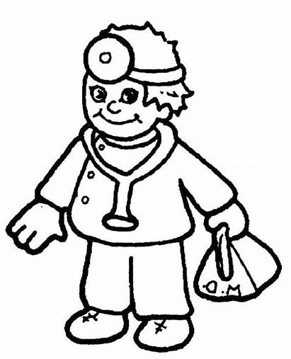 Doctor Coloring Equipment Pages Colouring Bag Doctors