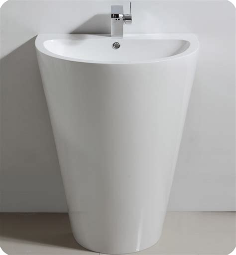 how to attach a pedestal sink to the wall 24 quot fresca parma fvn5023wh white pedestal sink w