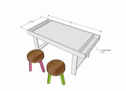 Table Play Plans Dimensions Ana Diy Cabin