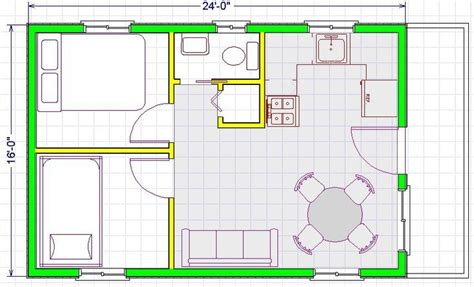 16x24 House Plans • Blumuh Design