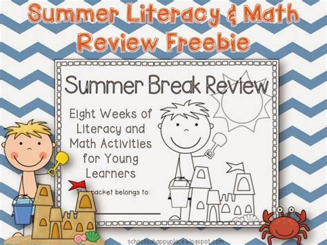Free Summer Literacy And Math Review Packet  End Of The Yeareducation  Pinterest Schools
