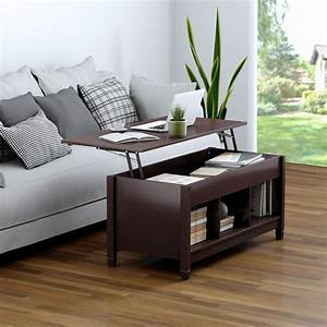 Costway, Lift, Top, Coffee, Table, W, Hidden, Compartment, And, Storage, Shelves, Modern, Furniture