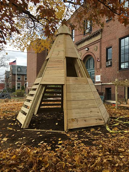 wooden tipi natural playgrounds