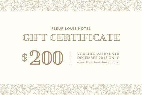 customize  gift certificate templates  canva