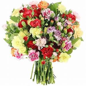 Bouquet De Fleurs : livraison bouquet d 39 oeillets multicolors classique bouquet de fleurs foliflora ~ Teatrodelosmanantiales.com Idées de Décoration