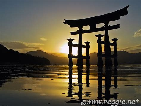 itsukushima shrine torii  sunset miyajima hiroshima