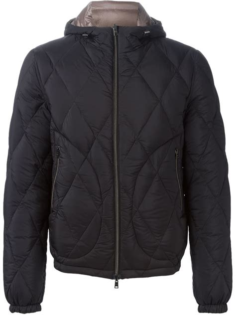 reversible padded jacket herno reversible padded jacket in black for lyst
