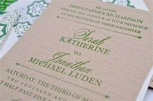 sarah jonathan39s german inspired wedding invitations With wedding invitation type of paper