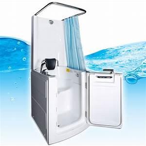 Senioren dusche sitzbadewanne sitzwanne duschbadewanne mit for Sitzbadewannen mit dusche