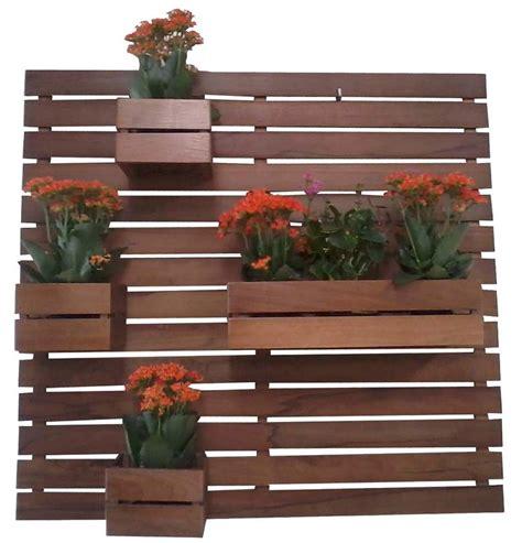 jardim vertical floreira em madeira  verniz belissima
