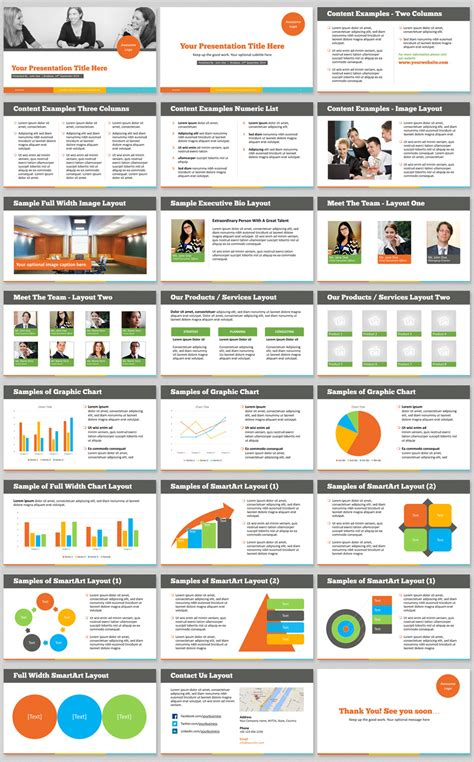 powerpoint template   vibrant modern color