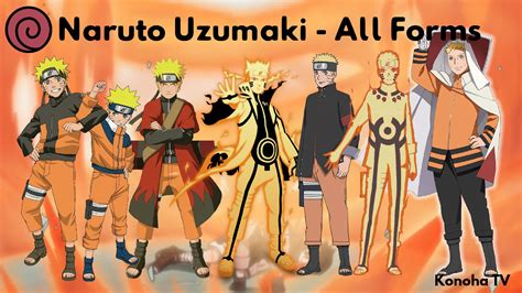 all forms of naruto naruto uzumaki all forms