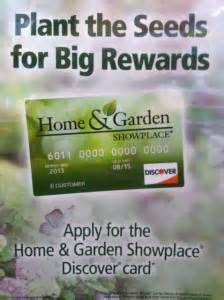 home garden showplace discover card program pahl s