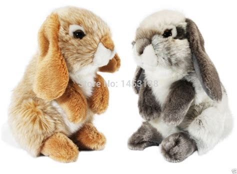 Living Nature Small Lop Eared Rabbit Plush Soft Toy Grey