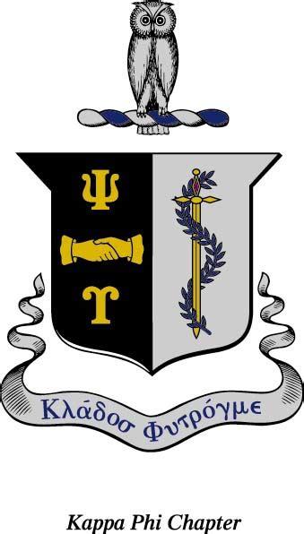 heraldry kappa phi chapter psi upsilon fraternity