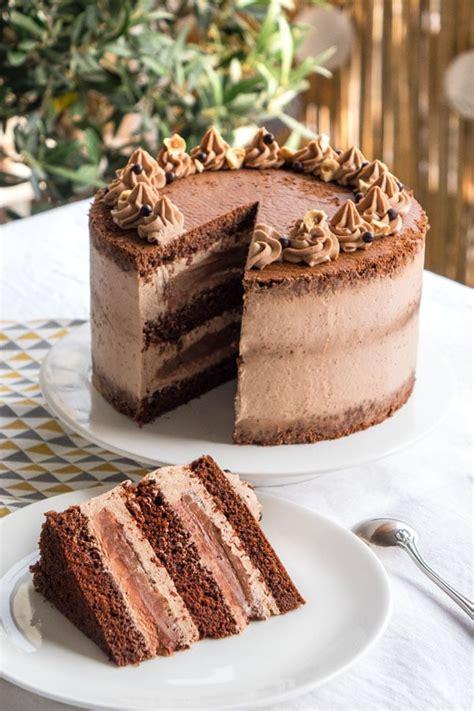layer cake au chocolat empreinte sucree