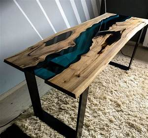 Table En Bois Et Resine : sold live edge walnut river table with black epoxy resin sold etsy ~ Dode.kayakingforconservation.com Idées de Décoration